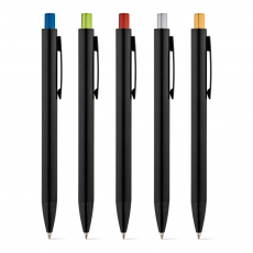 50 Kugelschreiber Aluminium Joan mit Logo gravieren lassen. NEUHEIT 2020