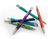25 Kugelschreiber Aluminium Cosmo mit Logo gravieren lassen.