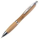 100 Kugelschreiber Bambus Edel mit Metall Einlagen