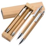 Kugelschreiber Set aus Bambus mit Kugelschreiber und Druckbleistift