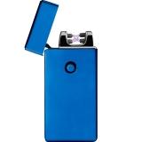 Lichtbogen Feuerzeug in Geschenkschachtel mit persönlicher Gravur in blau/schwarz