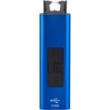 Lichtbogen Feuerzeug Arc in Geschenkschachtel mit persönlicher Gravur in blau/schwarz